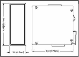Dimensions of Profibus Strain Gage Module